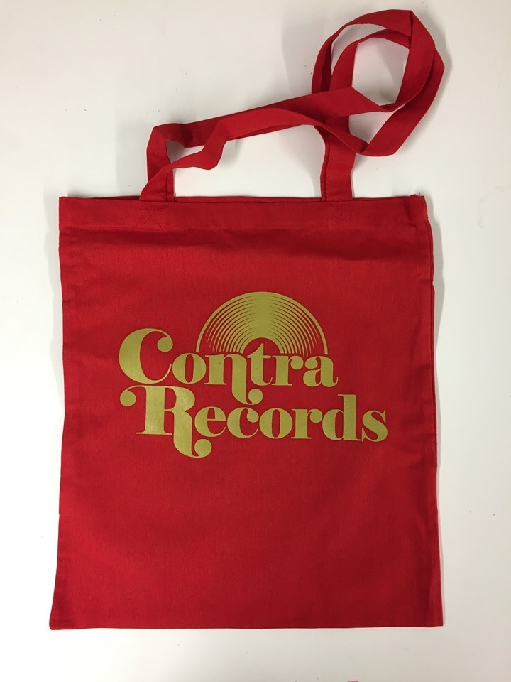 "Cotton Bag ""vinyl"" red"