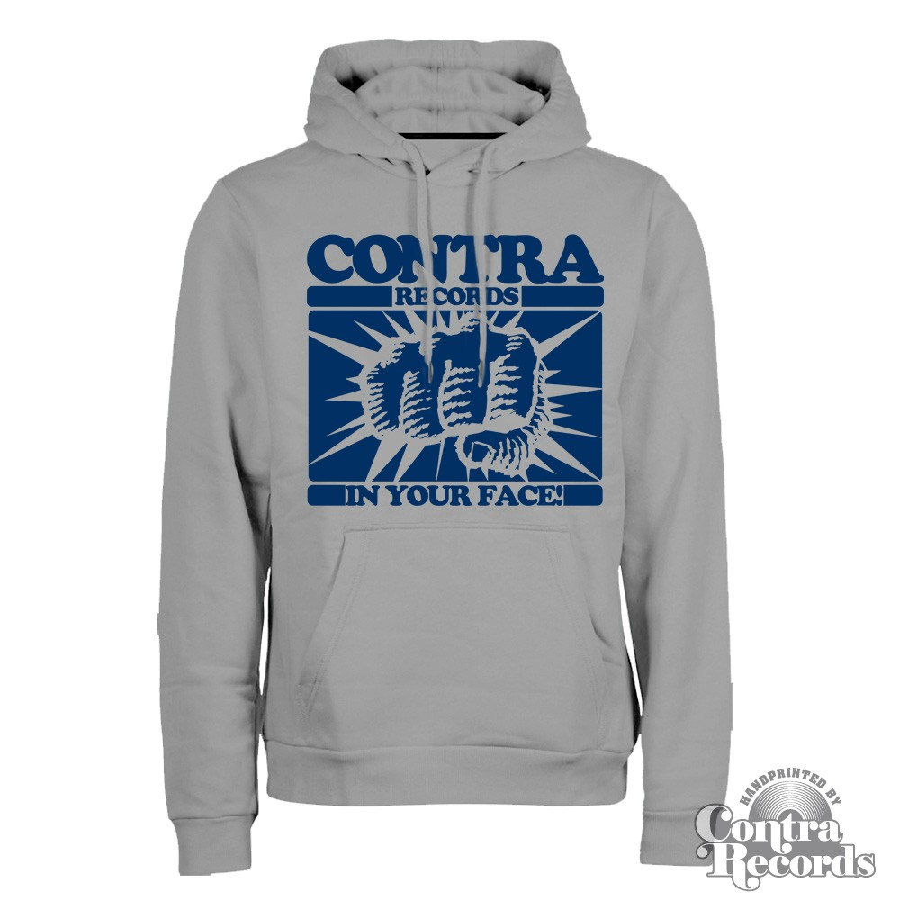 """Contra Records - """"In Your Face"""" - Hoody Grey"""