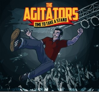 """AGITATORS ,THE- TIME TO TAKE A STAND - 12""""LP lim.200 blood red"""