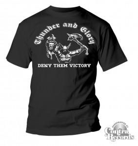 THUNDER & GLORY-Deny them Victory -T-Shirt black
