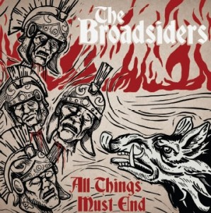 """BROADSIDERS,THE-ALL THINGS MUST END 12""""GF-LP lim.102 Red/Gold"""