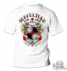 "Subculture for Life -""Anchor""- T-Shirt white"
