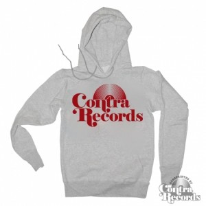 Contra Records - Vinyl- Hoody Grey