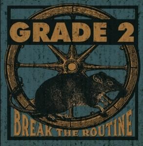 "GRADE 2 - BREAK THE ROUTINE 12""LP lim.500 solid Black"