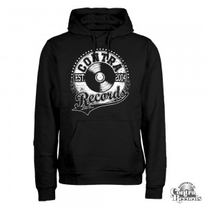 Contra Records - athletic Vinyl Logo Hoody Black