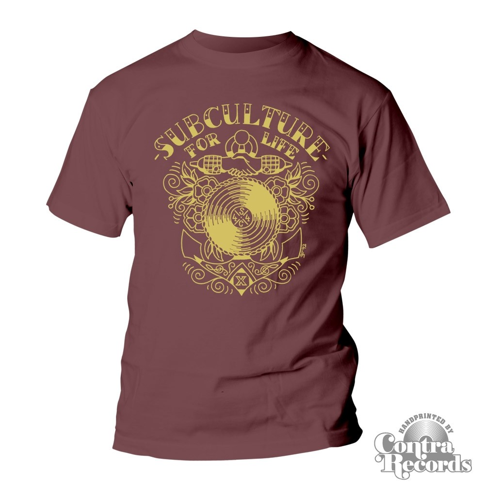 """Subculture for Life - """"Anchor"""" - T-Shirt oxblood red"""