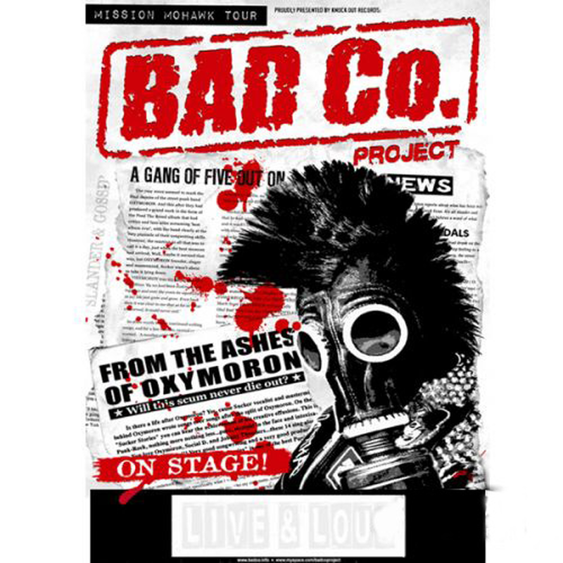 Bad Co. Project - Mission Mohawk tour 2011 - A1 Poster