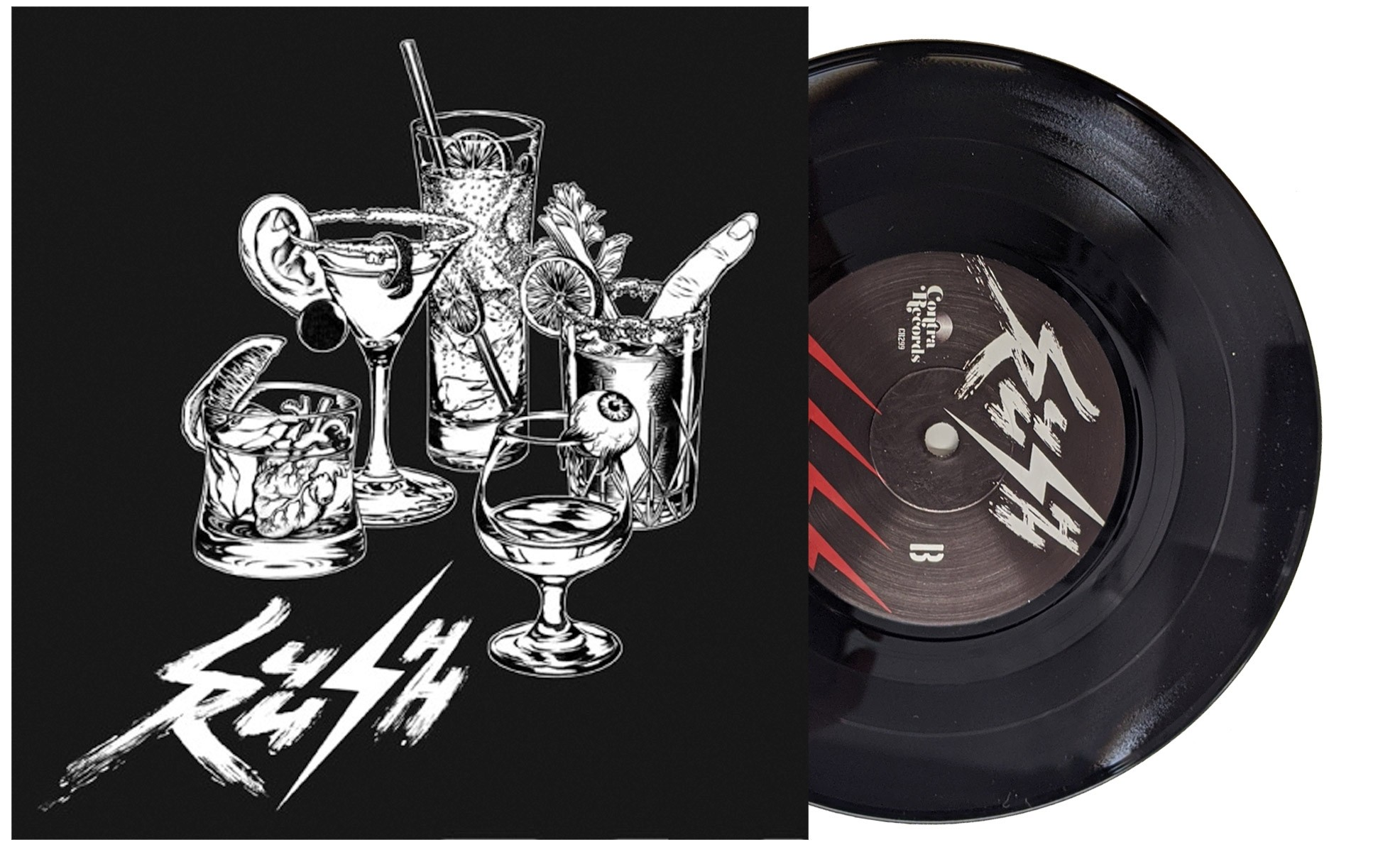 "Lush Rush - s/t 7""EP lim.200 black incl. download"