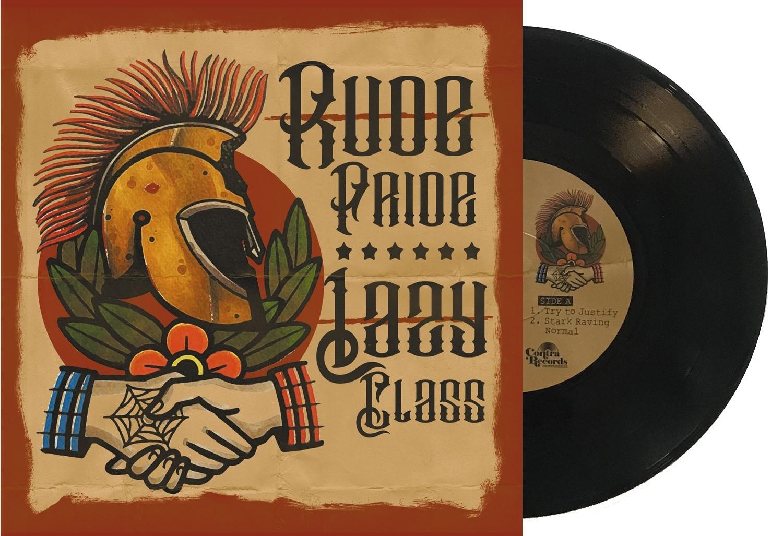 """V/A Rude Pride / Lazy Class - split 7""""EP lim.200 black"""