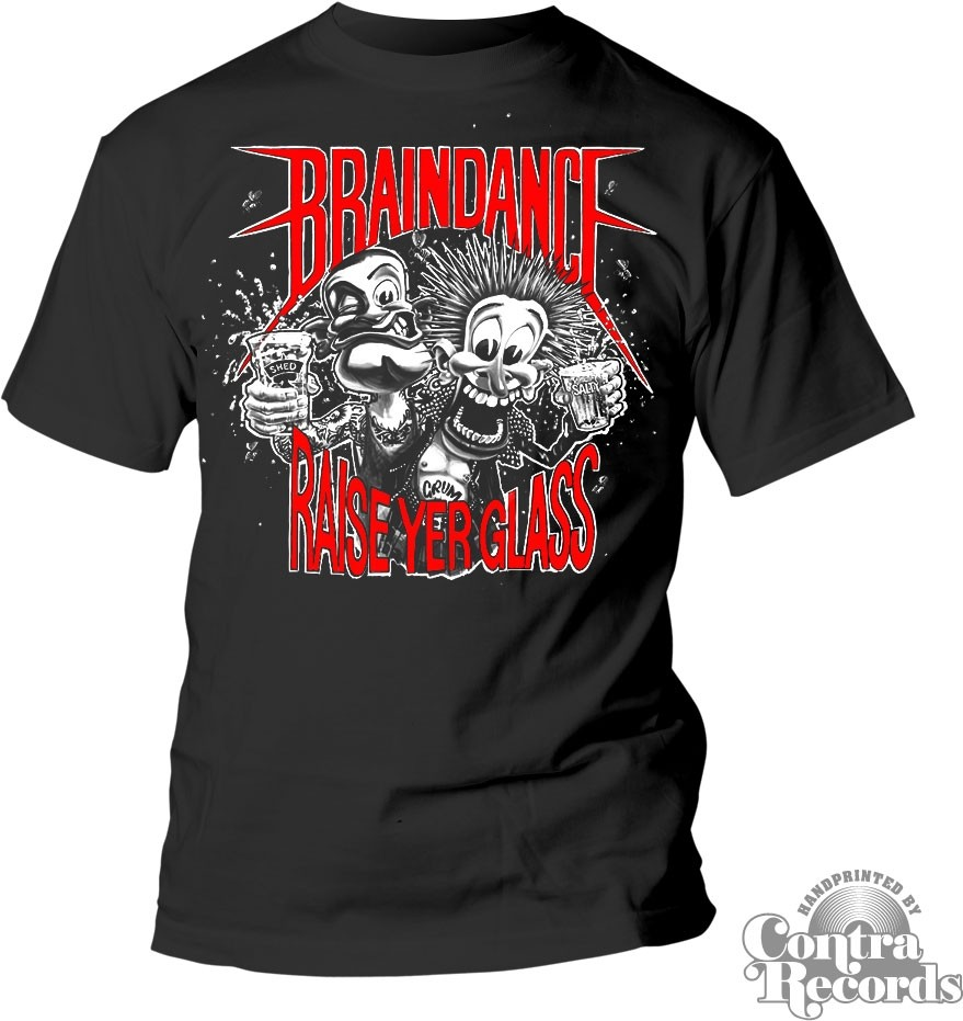 "Braindance - ""raise yer glass"" T-Shirt black"