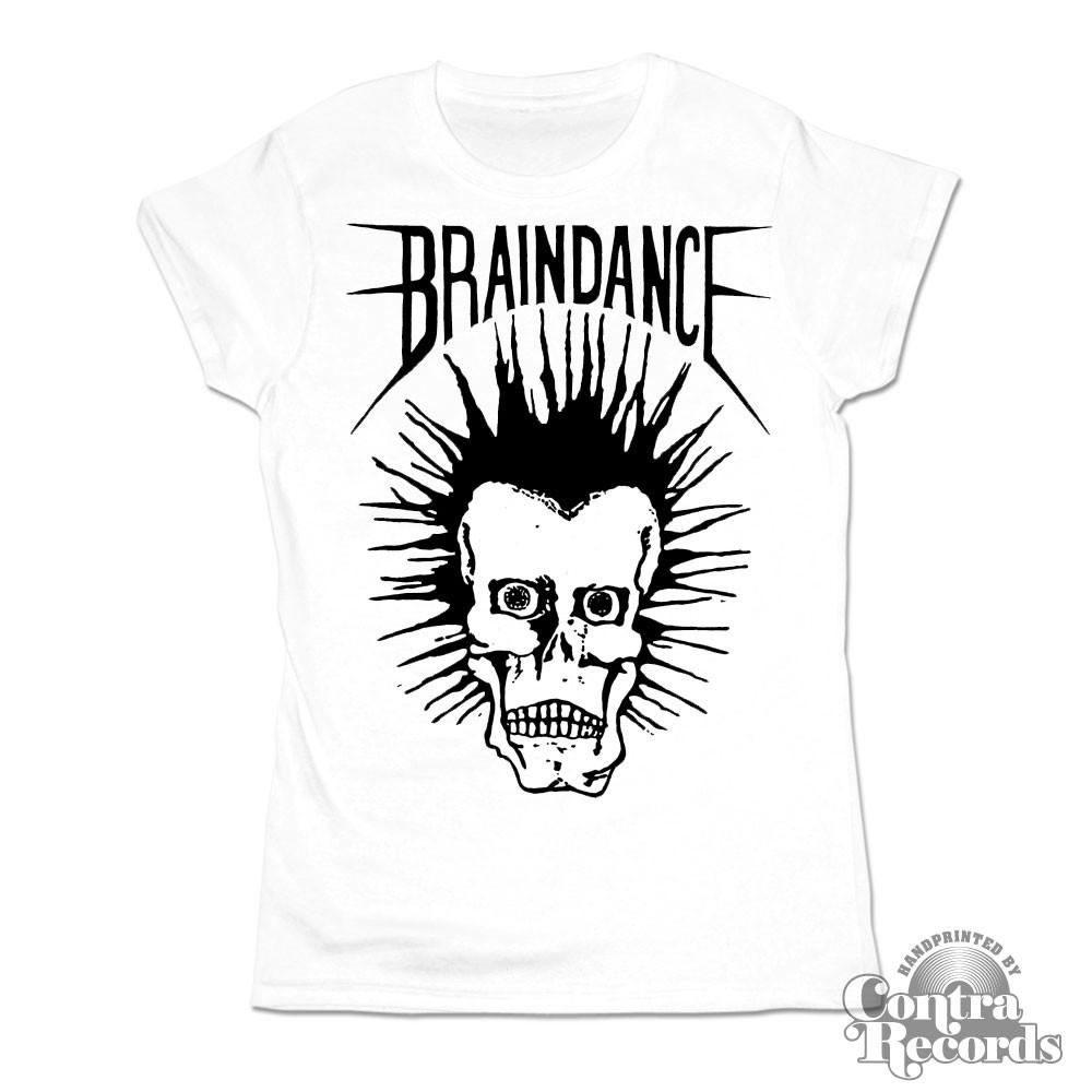 """Braindance - """"Skull"""" Girl Shirt white"""