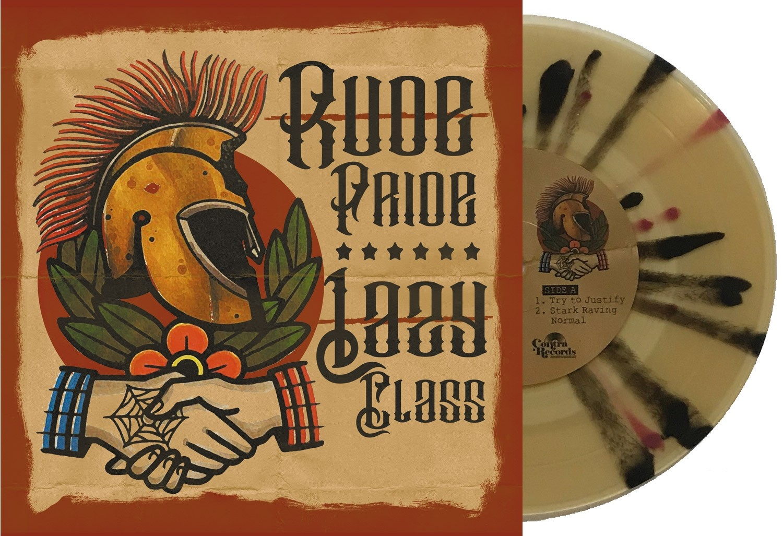 "V/A Rude Pride / Lazy Class - split 7""EP lim.300 clear/brown/black splatter"