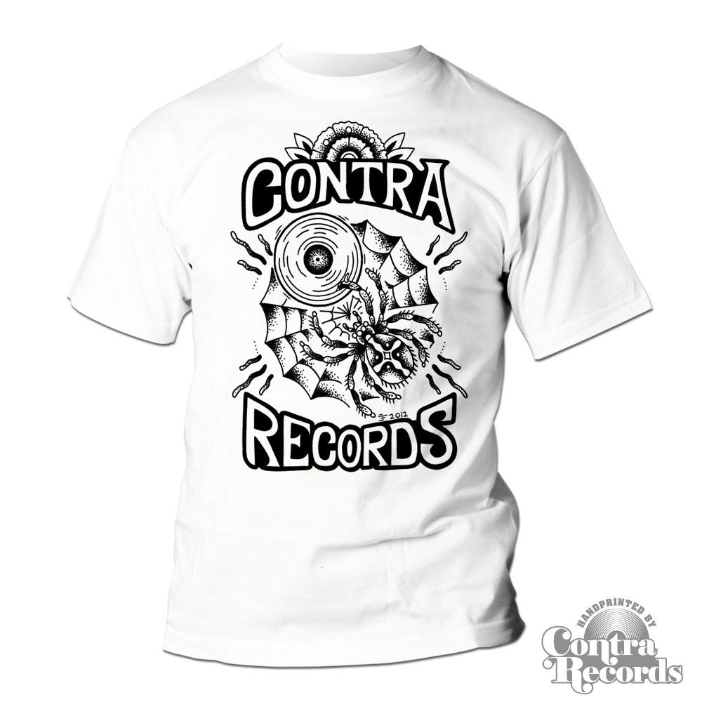 Contra Records - spiderweb T-Shirt white