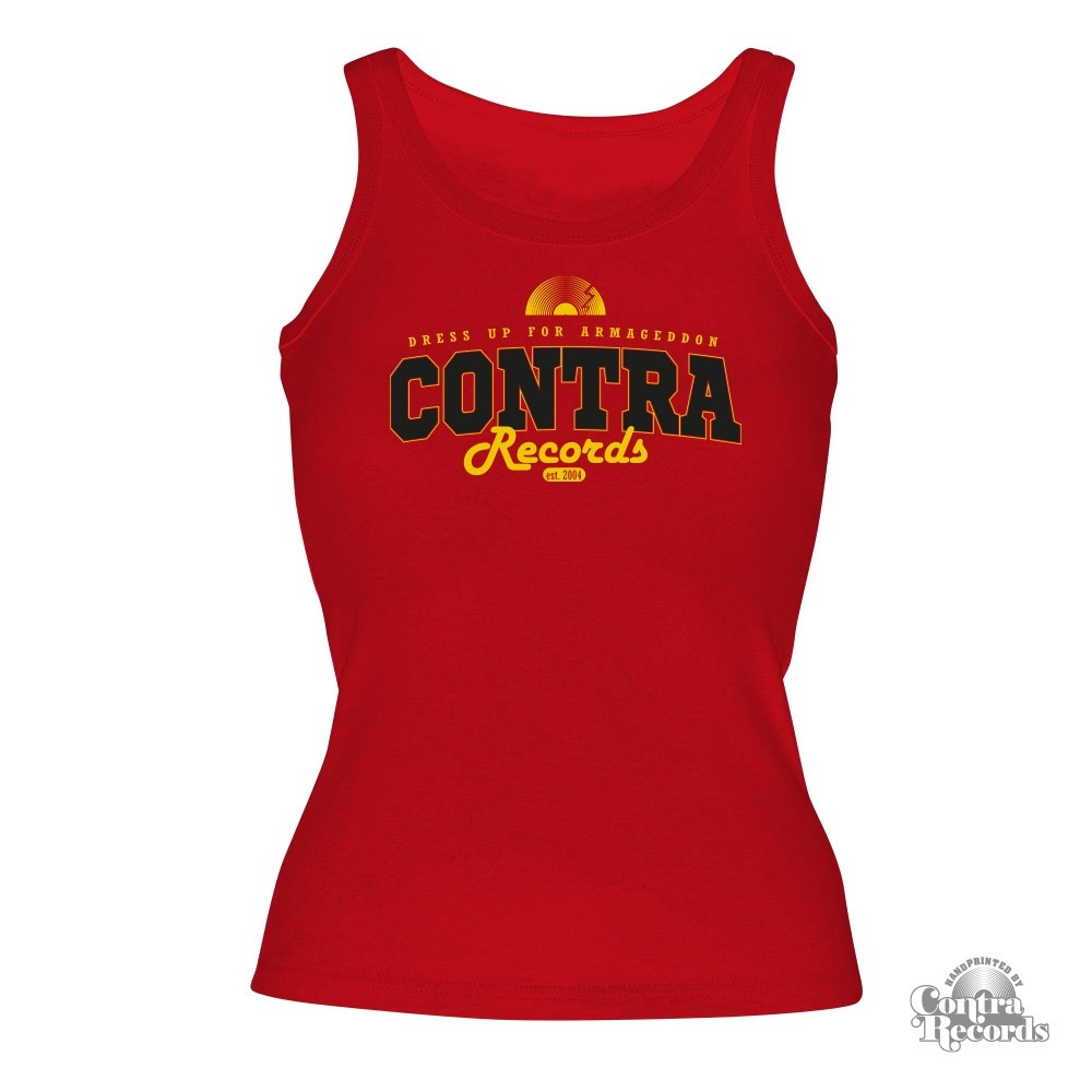 "Contra Records - ""dress up for..."" Girl tanktop red"