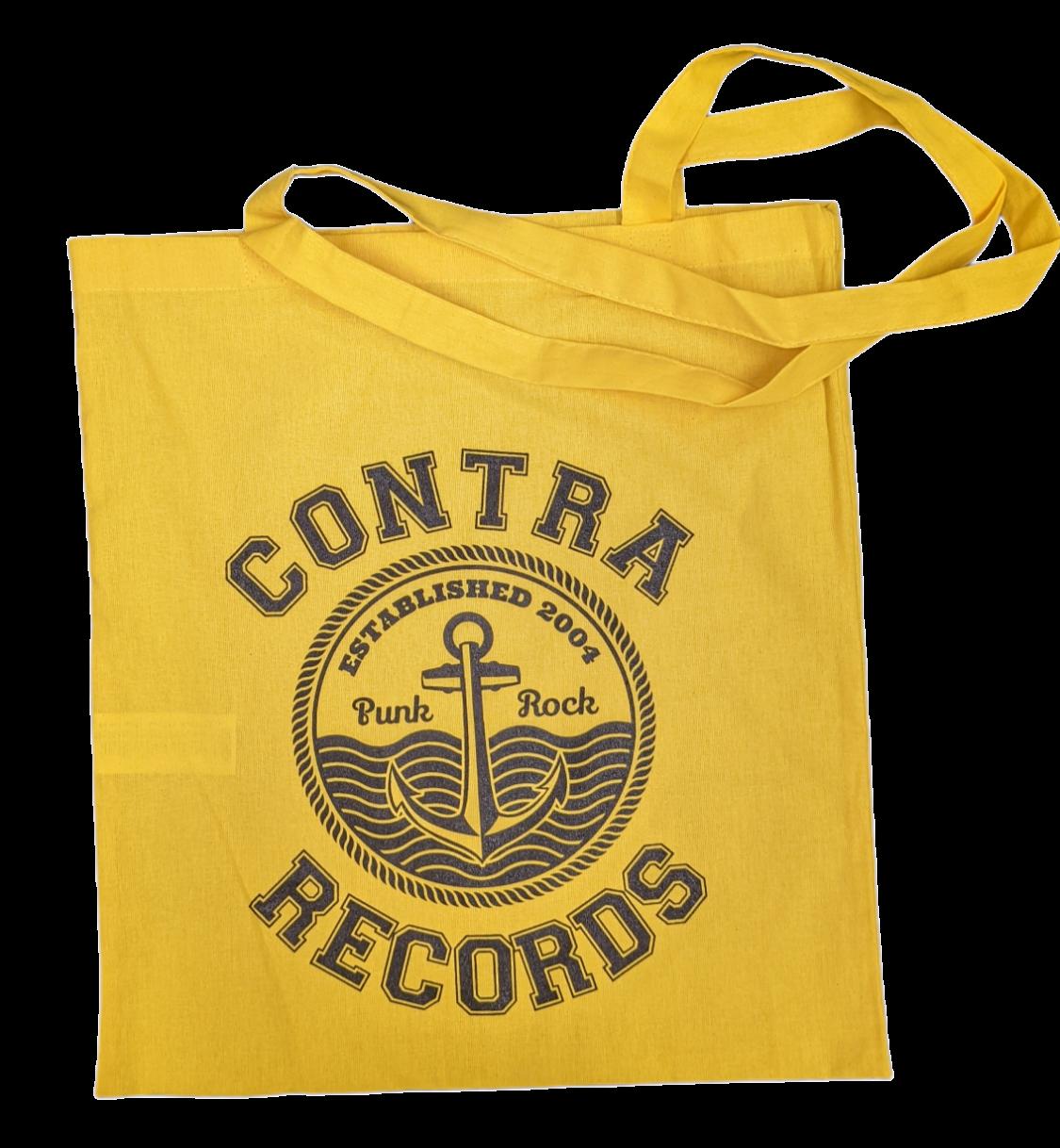 "Cotton Bag - ""anchor punkrock "" yellow/black print"