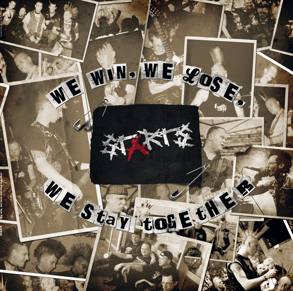 "Starts - ""We Win,We Lose,We Stay Together"" etched b-side 12""LP lim.300 black"