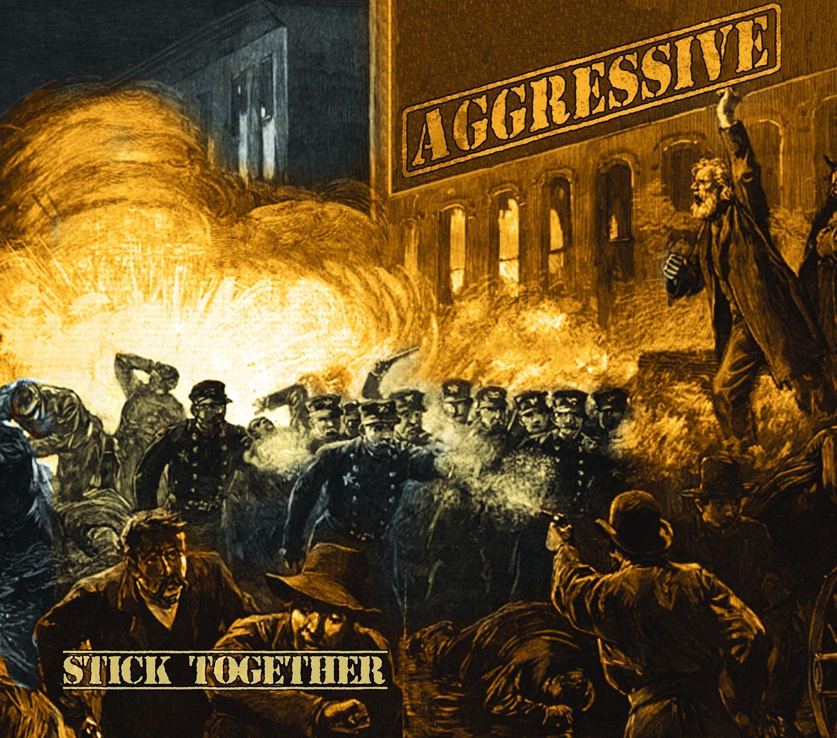 """AGGRESSIVE - Stick Together 12""""LP lim.200 gold/blue spl."""