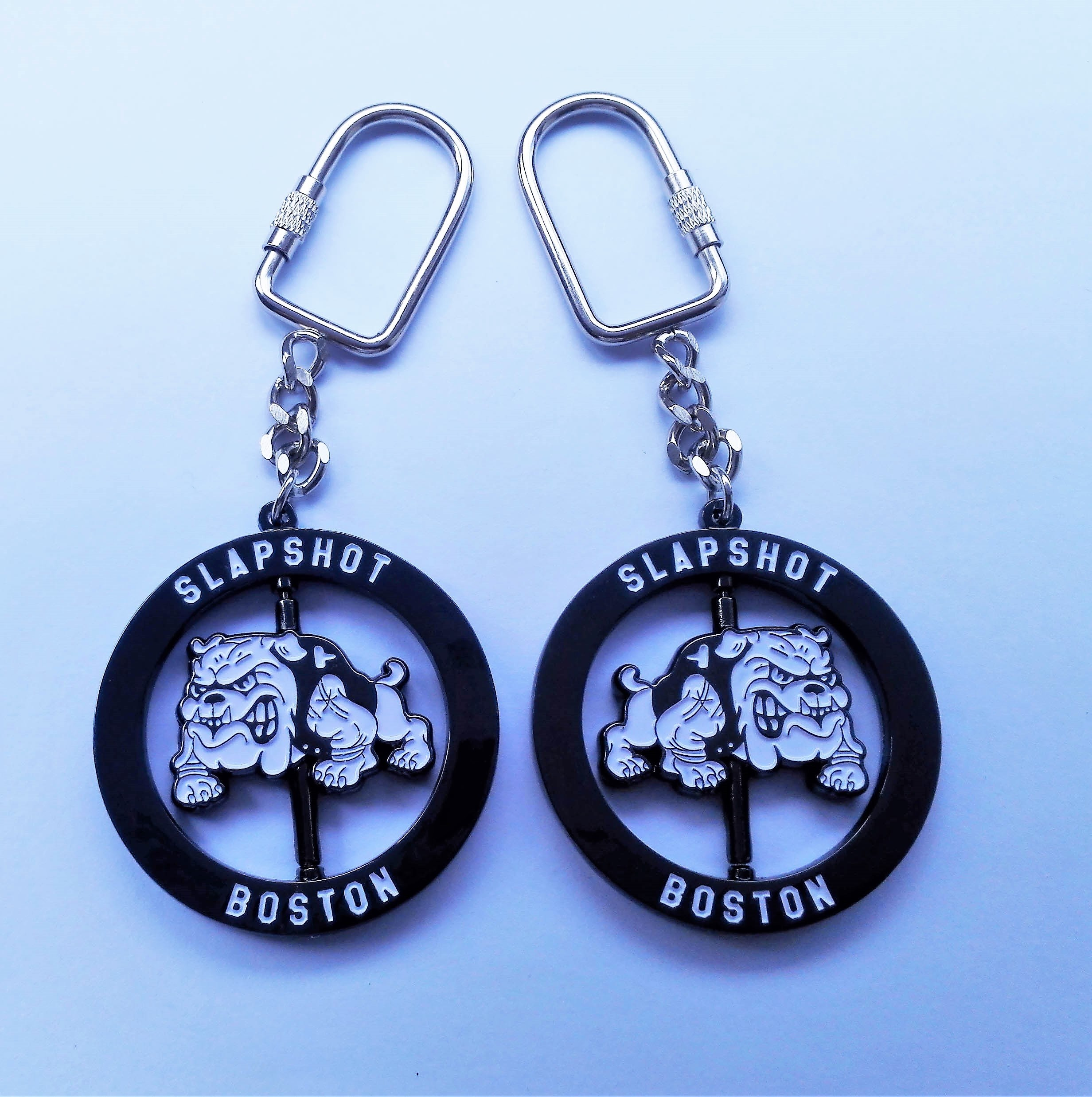 Slapshot - Boston Bulldog - spinning keychain