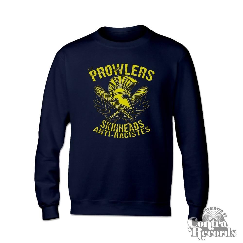 "Prowlers - ""Skinhead Anti-Racistes"" Crewneck Sweatshirt dark navy blue"