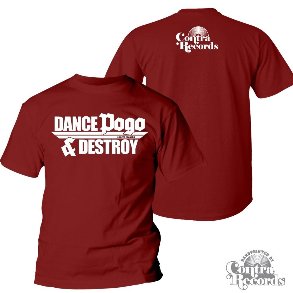 "Contra Records ""Dance Pogo & Destroy"" T-Shirt oxblood"