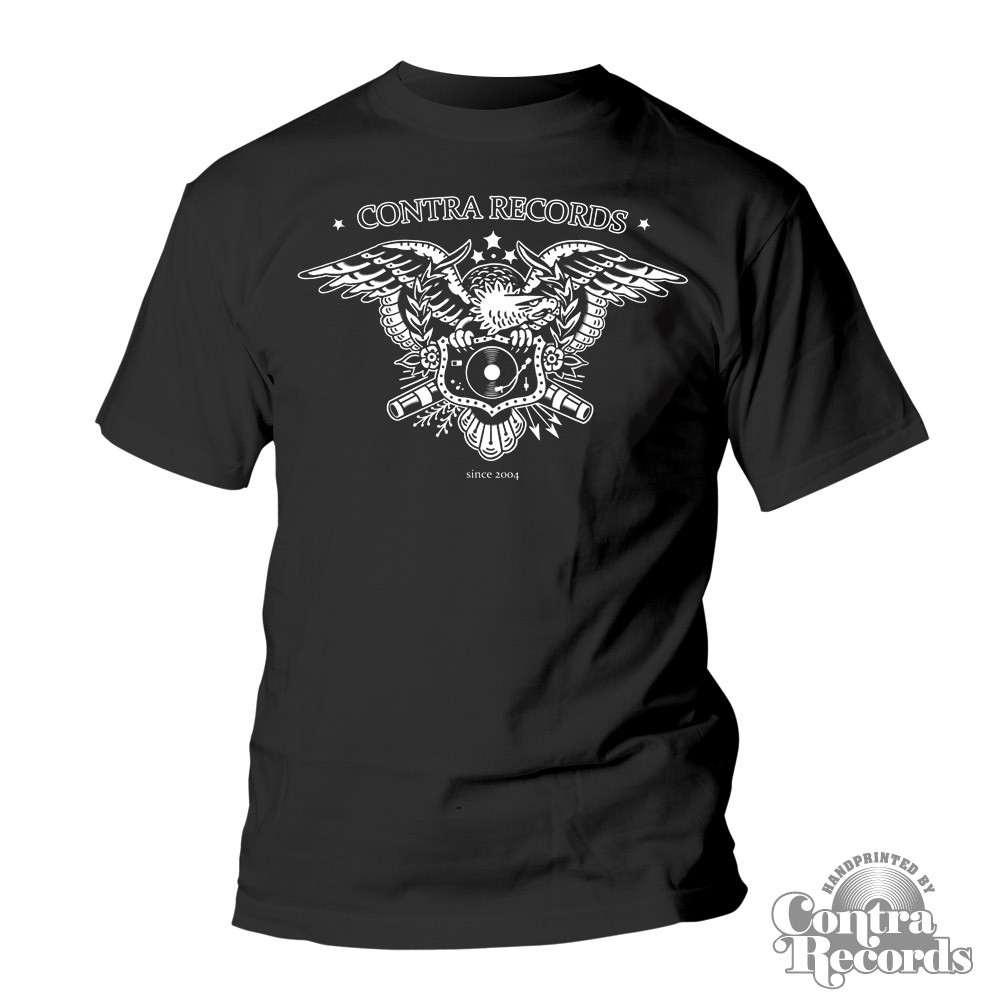 "Contra Records - ""Eagle"" T-Shirt black"