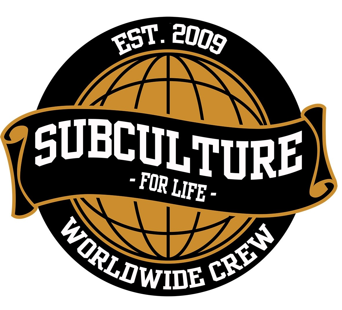 Subculture for Life - Worldwide Crew '09 - Sticker