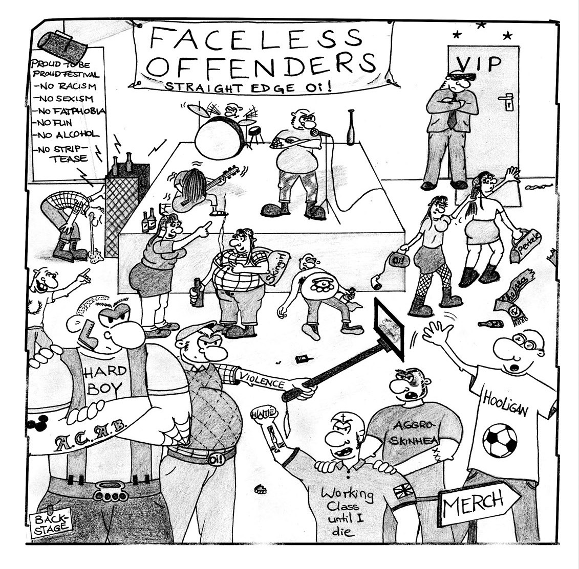 """Faceless Offenders - s/t 7""""EP lim.100 red"""