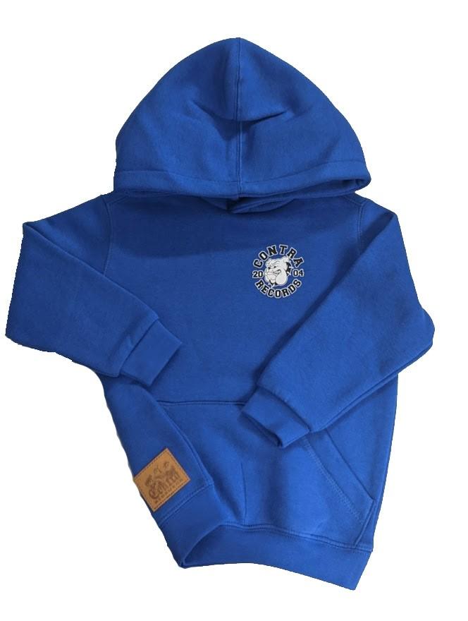 "Contra Kids Wear - ""Bulldog 2004"" - Kids Hoody royal blue"