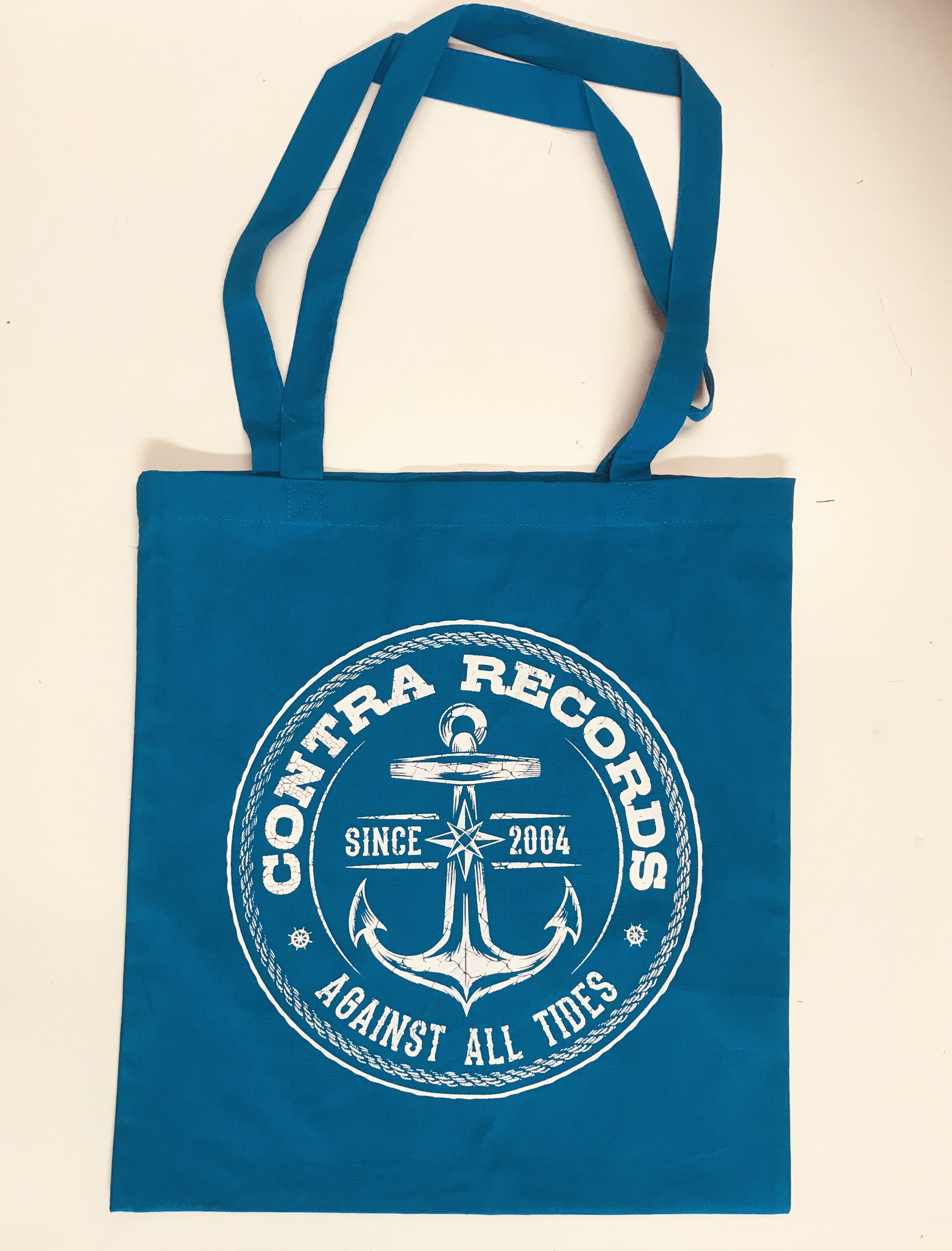 """Cotton Bag """"new anchor"""" blue"""