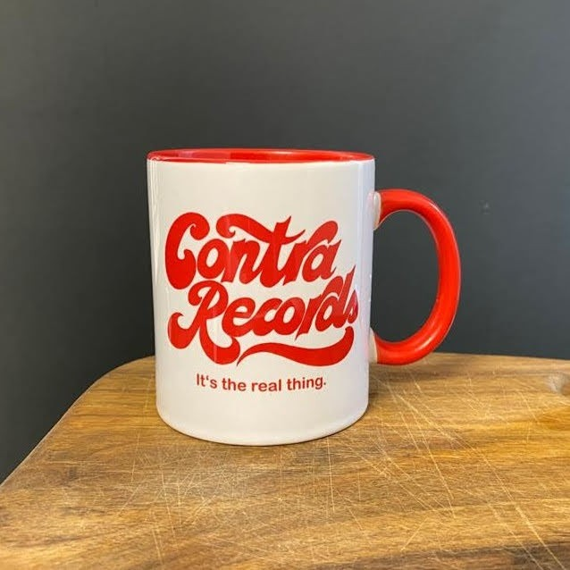 """Contra Records """"it's the real thing"""" - Tasse/Mug red"""