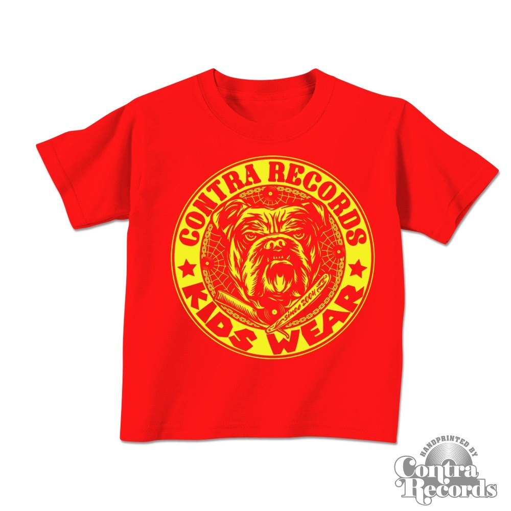 "Contra Records ""Kids Wear - Bulldog"" Kids Shirt red/yellow"