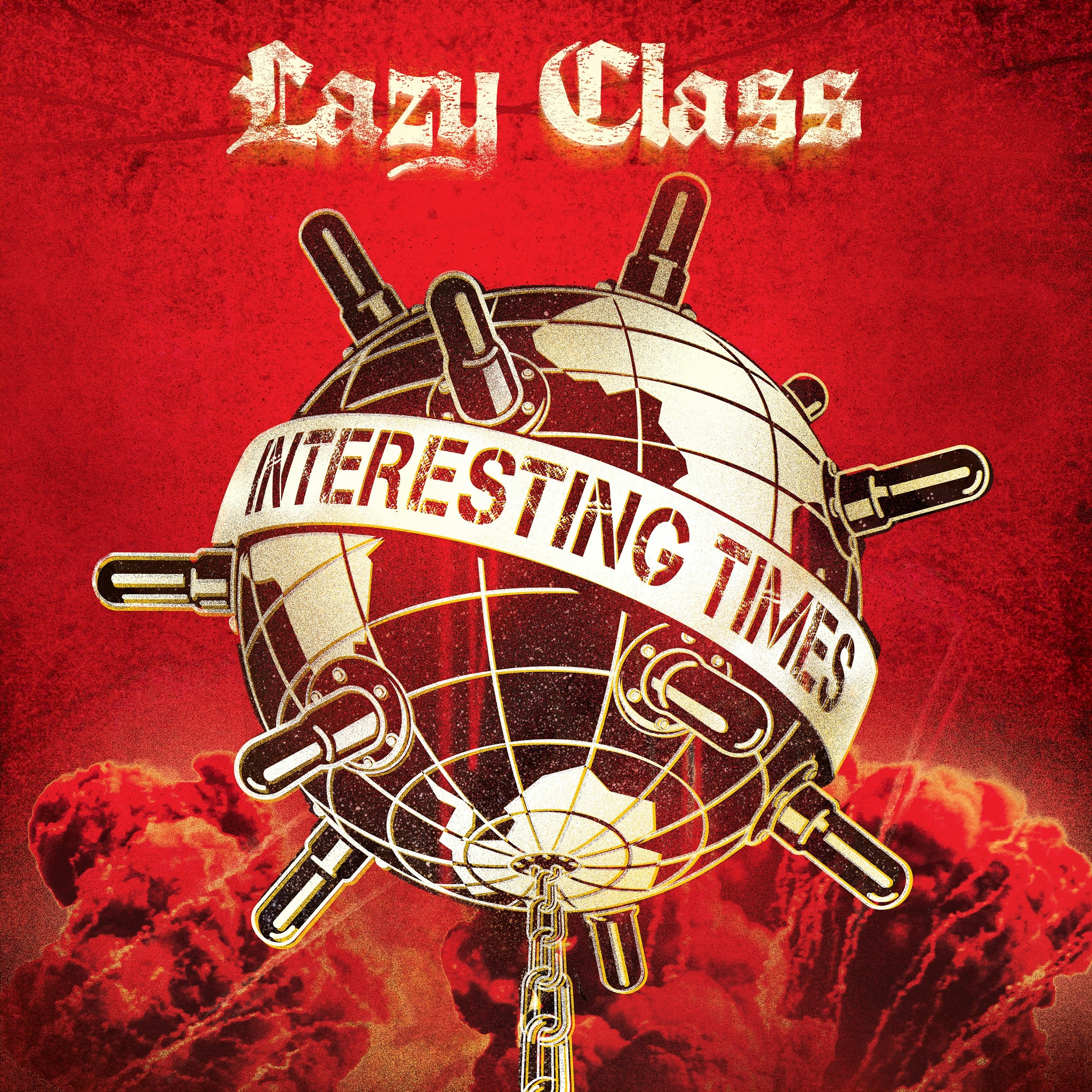 "Lazy Class - Interesting Times 12""GF-LP lim.100 red/yellow half n half"