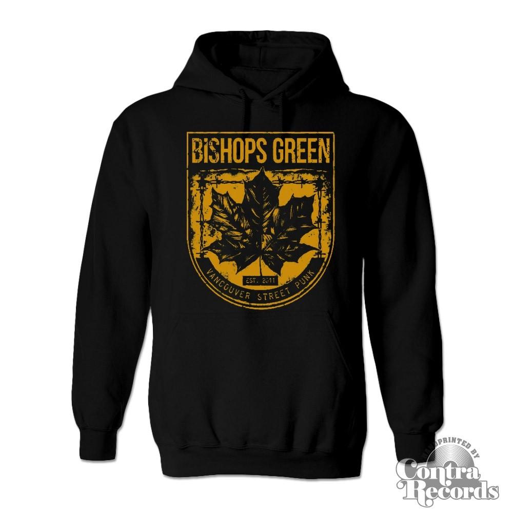 "Bishops Green - ""Leaf"" - Hoody black/yellow"