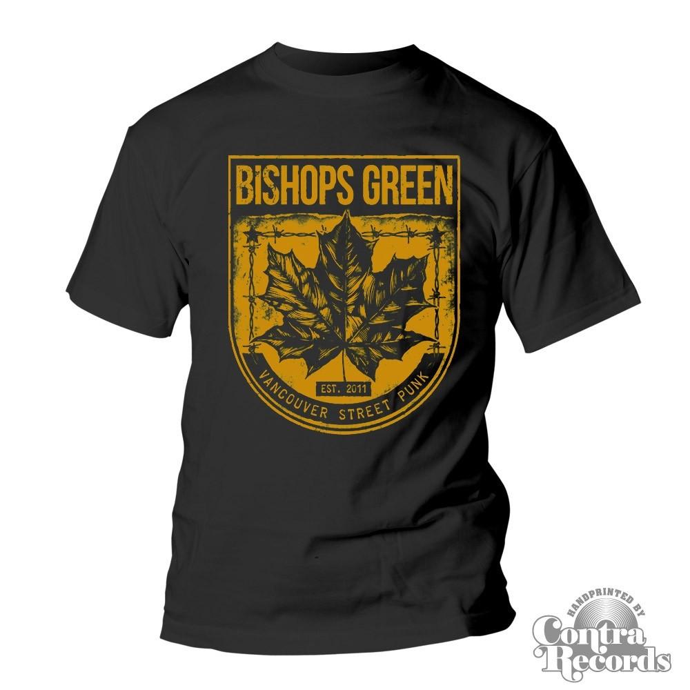 "Bishops Green - ""Leaf"" - T-Shirt black/yellow"