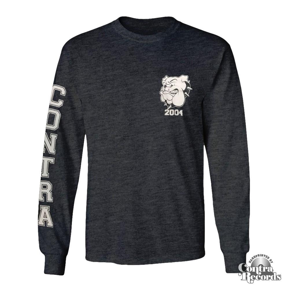 Contra - Streetwear Bulldog - Longsleeve Shirt (Grey)