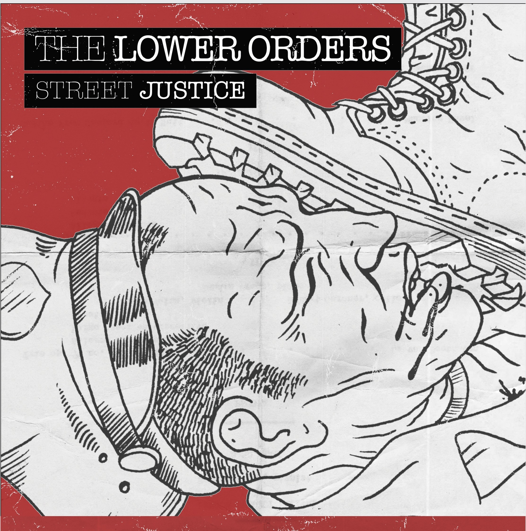 """Lower Orders - Street Justice 7""""EP lim. 200 Half/half"""