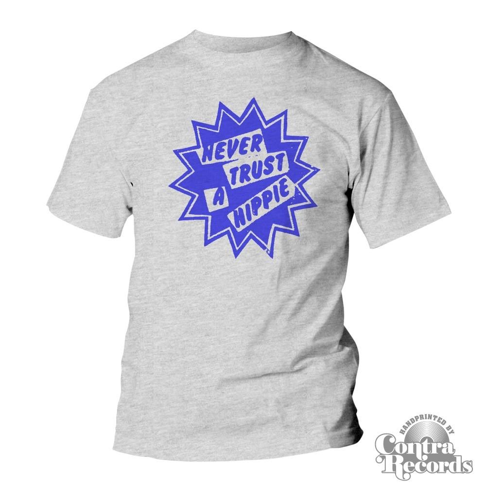 """""""Never Trust a Hippie"""" - T-Shirt grey"""