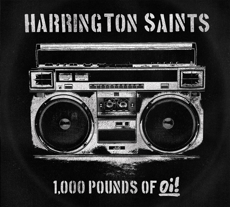 "Harrington Saints - 1000lbs Of Oi! 12""LP lim. 250 black"
