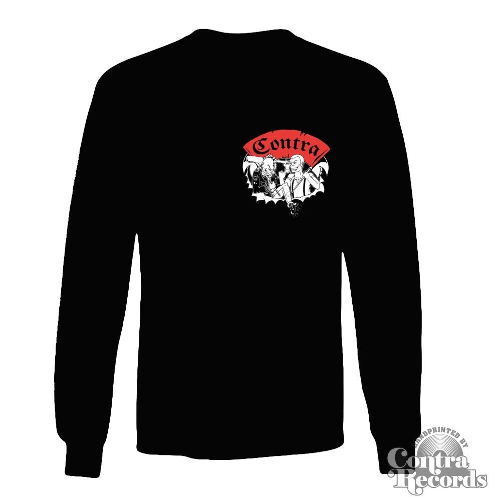 Contra Records - Punk & Skin - Longsleeve Shirt black