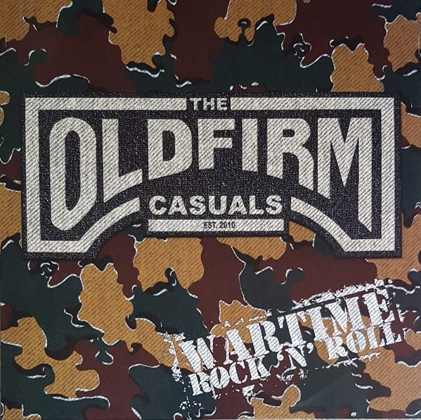 """Old Firm Casuals - Wartime rock 'n' roll 12""""M-LP lim.500 black one side printed"""