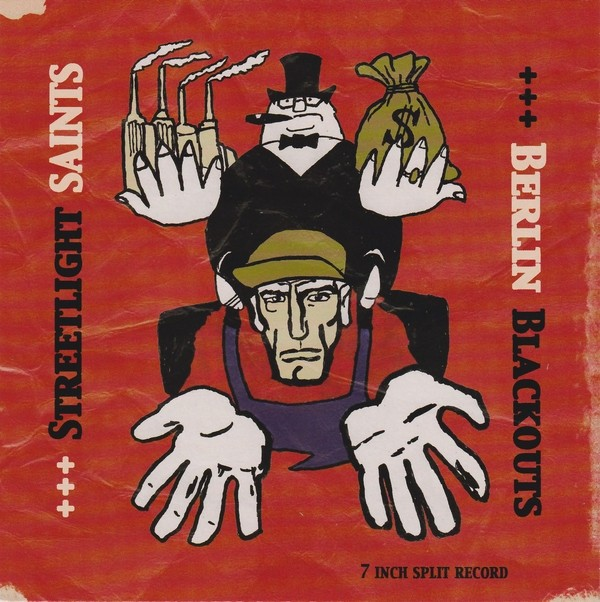 "V/A Streetlight Saints / Berlin Blackouts ‎- split 7""EP lim. 200 clear (canada version)"