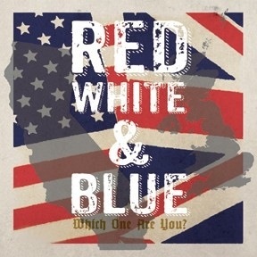 """V/A - Red White & Blue - Which One Are You? - 2x7""""Gatefold EP splatter"""