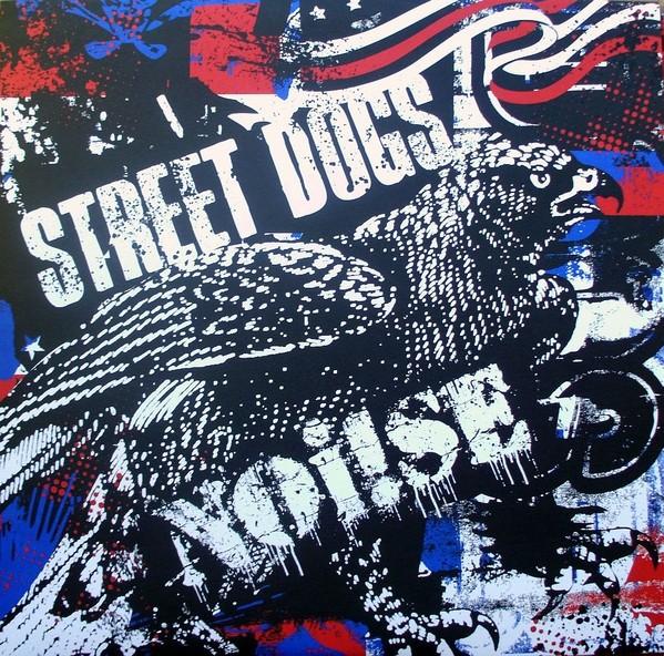 """V/A Street Dogs / Noi!se split 10""""LP Red/White & Blue Splatter"""