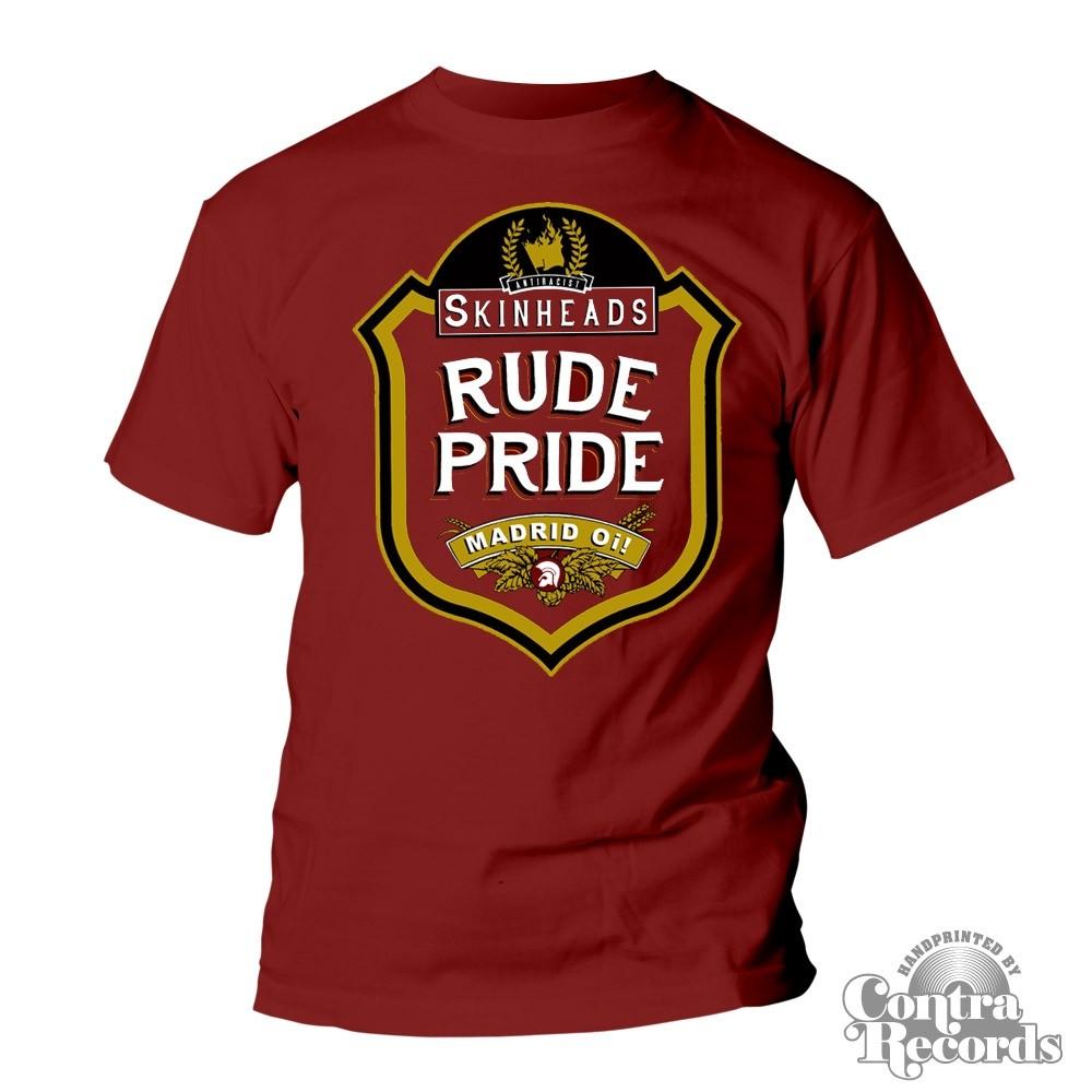 "Rude Pride - ""Skinheads"" T-Shirt oxblood"