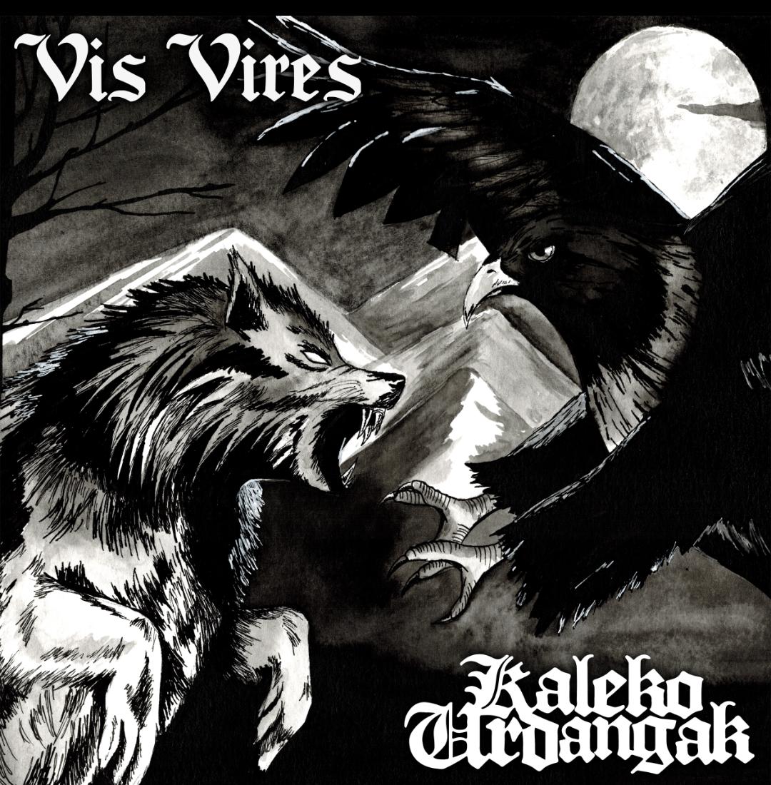"V/A Vis Vires / Kaleko Urdangak - Split 7""EP lim.330 black"