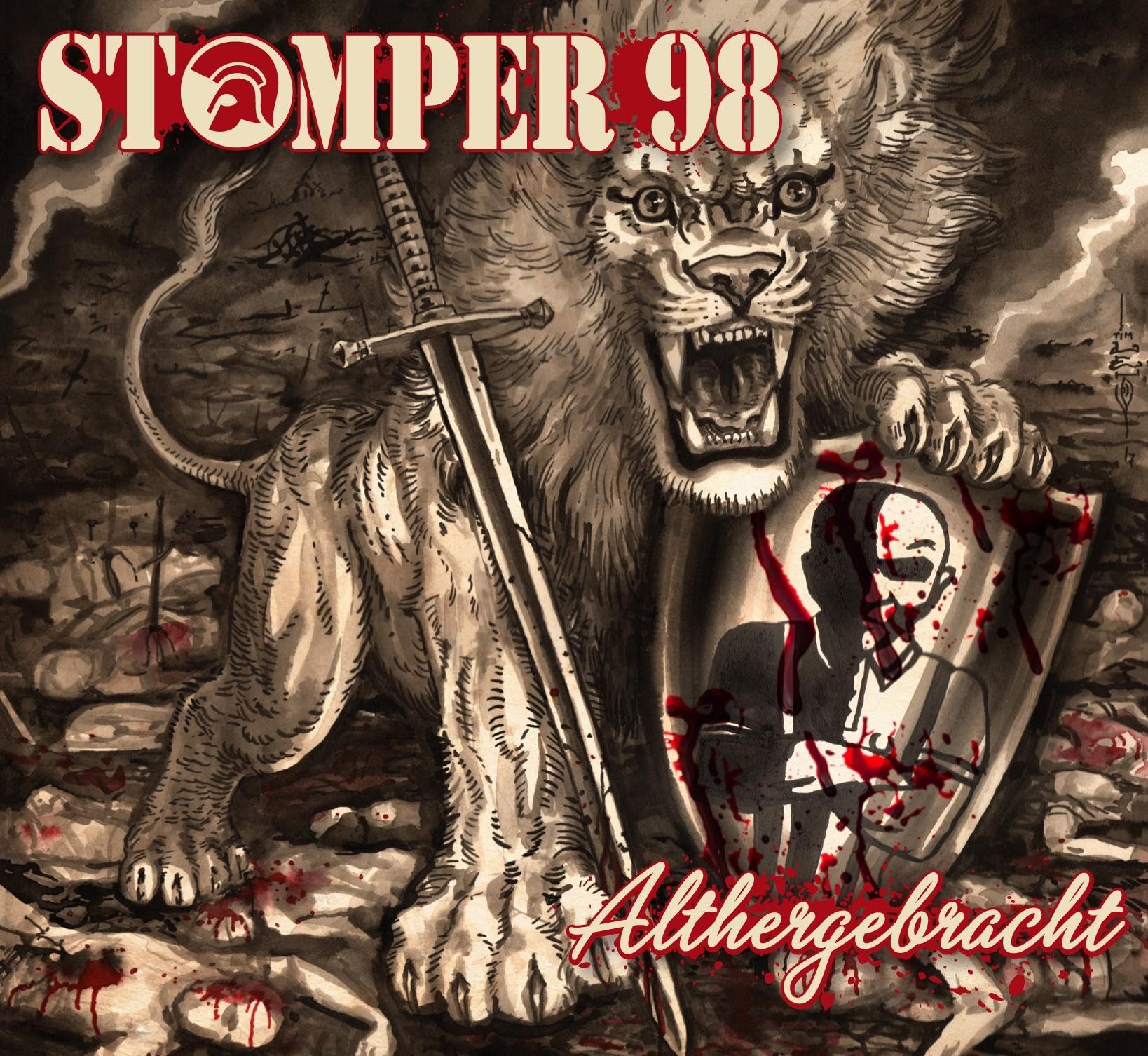 """Stomper 98 - Althergebracht 12""""GF-LP lim.500-marbled red/black"""