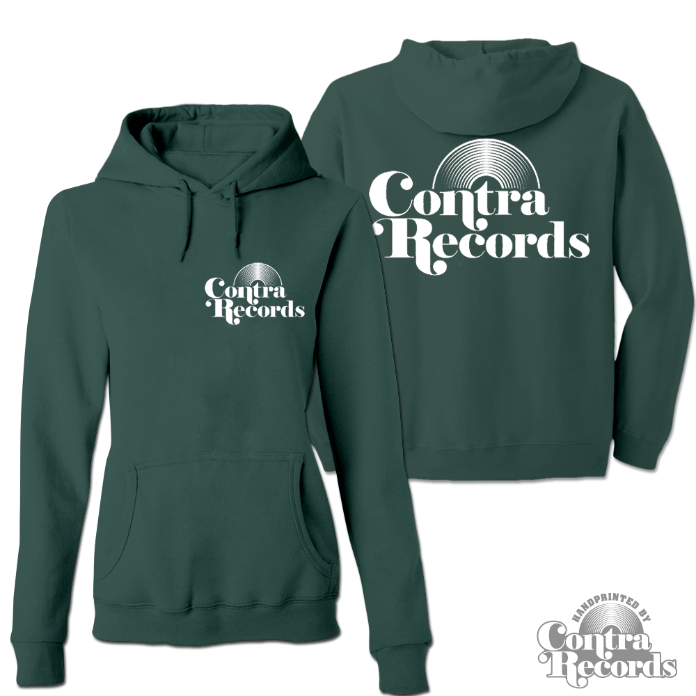 Contra Records - Vinyl - Girl Hoody dark green