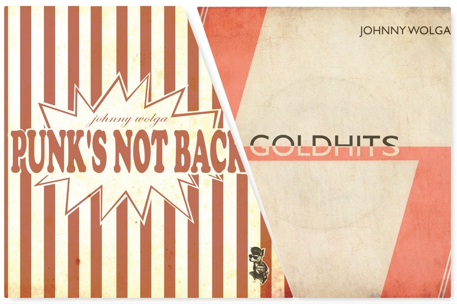 Johnny Wolga - package deal # Goldhits + Punk's not back CD