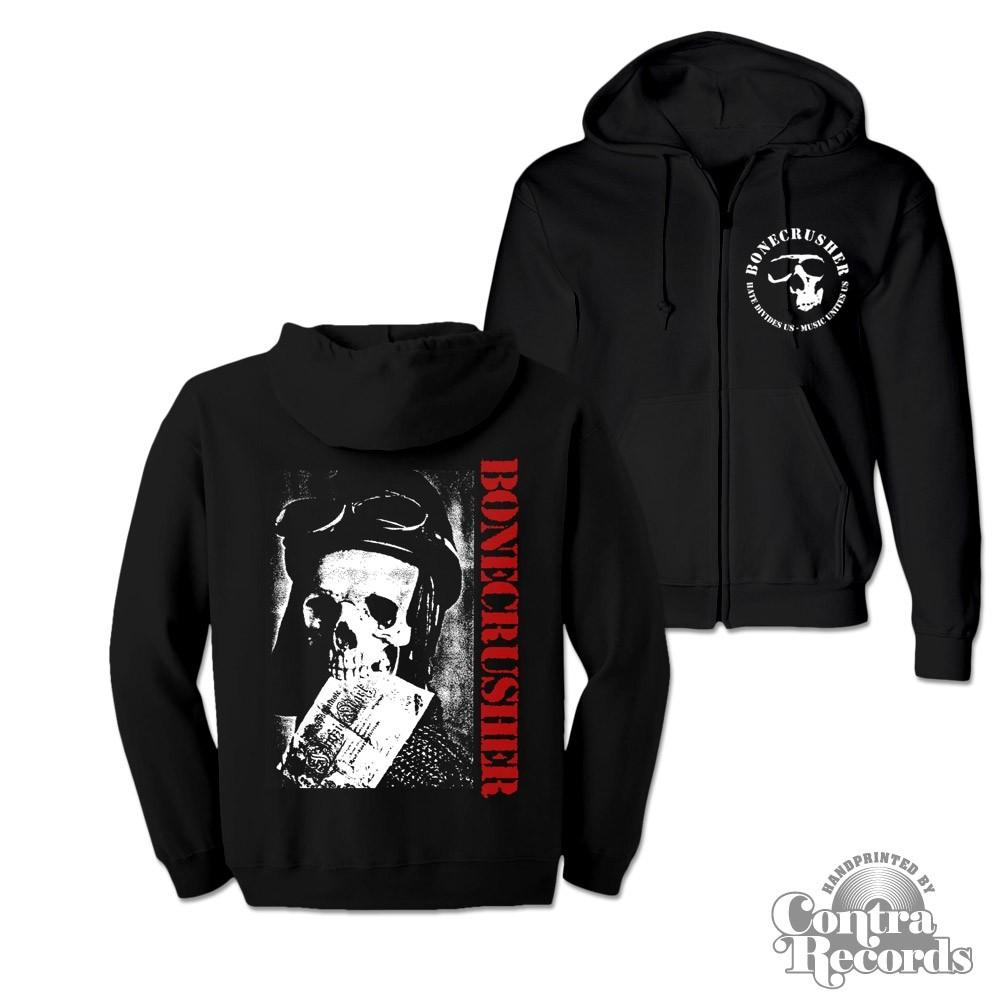 "Bonecrusher - ""Angry Youth"" - Zip Hooded Jacket black"