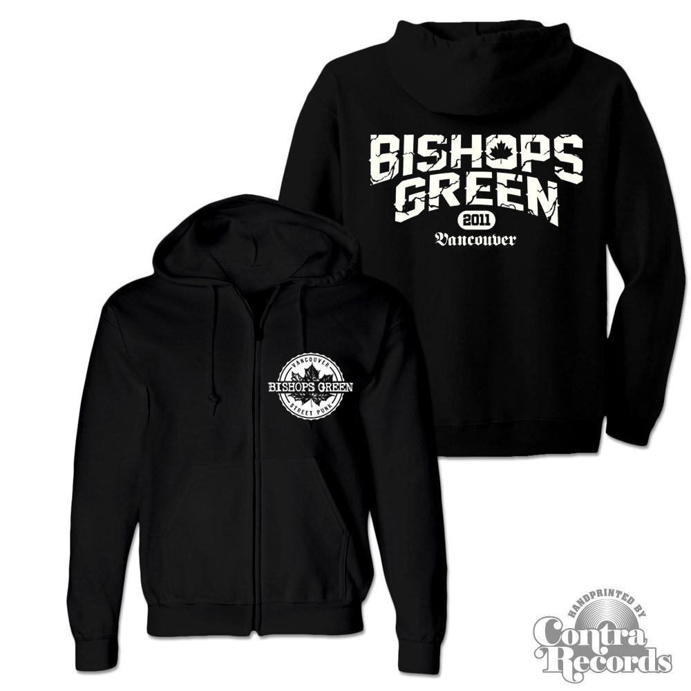 """Bishops Green - """"Vancouver Streetpunk"""" - Zip Hooded Jacket black"""